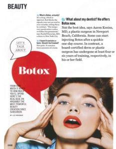 Cospmopolitan letstalkaboutbotox 233x300 - COSMOPOLITAN MAGAZINE: Let's Talk about Botox